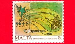 Nuovo - MNH - MALTA - 1987 - Centenario Esperanto - Protezione Dell'Ambiente - 8 C - Malta