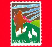 Nuovo - MNH - MALTA - 1988 - Natale - Christmas - Pastore Con Gregge - 3+1 - Malta