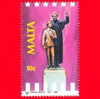Nuovo - MNH - MALTA - 1988 - 100 Anni Della Morte Di San Giovanni Bosco - Statua - 10 C - Malta
