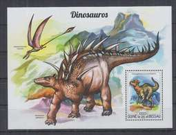 U773. Guine-Bissau - MNH - 2015 - Fauna - Prehistoric Animals - Dinosaurs - Bl - Vegetales