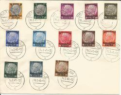 Michel 1-13 Gestempelt Auf Blankobrief - Canceled On Unadressed Cover - Oblitérés Sur Lettre Sans Adresse - Occupation 1938-45