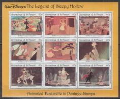 Y977. St Vincent - MNH - Cartoons - Disney's - Animated Movies - 2 - Disney