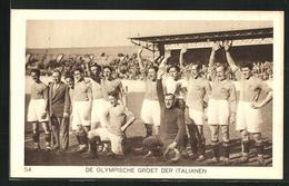 AK Amsterdam, Olympische Spiele 1928, Italienische Fussball-Nationalmannschaft - Calcio