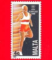 Nuovo - MNH - MALTA - 1988 - Giochi Olimpici - XXIV Olimpiade Di Seul - Corsa - 4 C - Malta