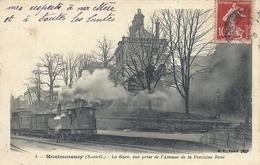 2020 - 06 - VAL D'OISE - 95 - MONTMORENCY - La Gare Vue Prise De L'avenue Del A Fontaine René Avec Train - Montmorency