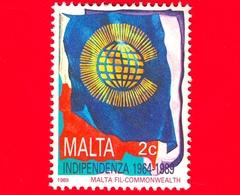 Nuovo - MNH - MALTA - 1989 - 25 Anni Dell'Indipendenza - Emblema Del Commonwealth - 2 C - Malta
