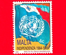 Nuovo - MNH - MALTA - 1989 - 25 Anni Dell'Indipendenza - Bandiera Del Consiglio D'Europa - 4 C - Malta