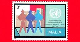 Nuovo - MNH - MALTA - 1989 - 20 Anni Della Dichiarazione ONU Sul Progresso Sociale E Sviluppo - Figure Ed Edifici - 3 C - Malta