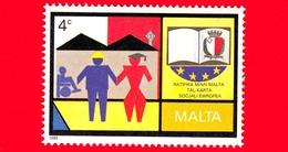 Nuovo - MNH - MALTA - 1989 - Ratifica Da Parte Di Malta Della Carta Sociale Europea - Lavoratori E Figure  - 4 C - Malta