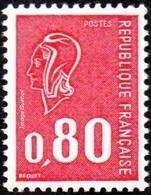 France Variété N° 1816 D ** Marianne De Béquet - Le 80c Rouge - Taille Douce - Gomme Tropicale Sans Phosphore - Variedades Y Curiosidades