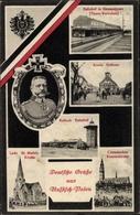 Cp Kalisz Kalisch Posen, Porträt Feldmarschall V. Hindenburg, Lodz St Mathai Kirche, Konin Rathaus - Posen