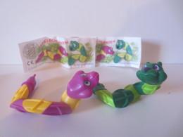 Kinder Surprise Deutch 1996 : Série Serpents + 2 BPZ - Montables