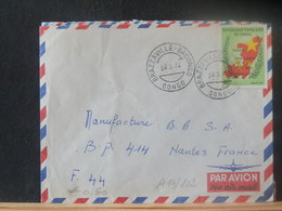 A13/102  LETTRE CONGO VENTE RAPIDE A 1 EURO - Oblitérés