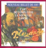 Document De Présentation Du Nouveau Billet De Banque De 100F à L'effigie De Paul Cézanne.   Banque De France. - Other