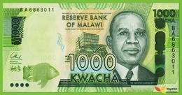 Voyo MALAWI 1000 Kwacha 2014 P67a B159a BA UNC Mzuzu Maize Silos - Malawi