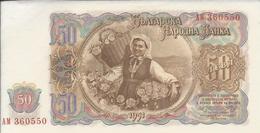 BULGARIE   -  50  Leva  1951   -- UNC --   Bulgaria - Bulgaria