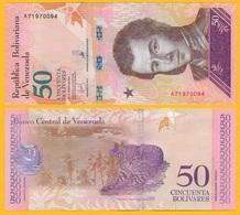 Venezuela 50 Bolivares P-105 2018 UNC Banknote - Venezuela