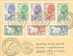 Bel Affranchissement Composé Pour 1er Jour 16-03-47 - Costa De Marfil (1892-1944)
