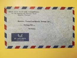 1961 BUSTA INTESTATA TAILANDIA THAILAND AIR MAIL BOLLO KING BHUMIBOL ADULYADEJ ANNULLO OBLITERE' BANGKOK - Tailandia