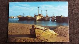 CPSM MAURITANIE NOUADHIBOU PORT DE PECHE  1980 BATEAUX - Mauritanie