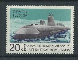 """RUSSIE Polaire N° 3641 XX  Sous-marin Atomique """"Lénine-Komsomol"""" Sans Charnière TB - Non Classificati"""