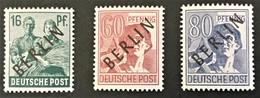 1948 Kontrollratsausgabe Mit Auffdruck BERLIN Mi.7**), 14**), 15**) - Ongebruikt