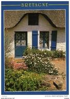 LA BRETAGNE PITTORESQUE  Vieille Maison De Pêcheur .  Timbre Coupe Du Monde 1998    2 Scans - Bretagne