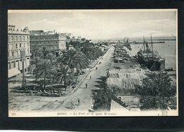 CPA - BONE - Le Port Et Le Quai Warnier, Animé - Annaba (Bône)