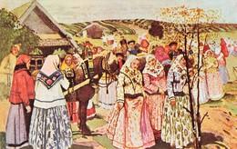 CPSM CPM - Russie - Estaer Greeting Of The Tzar And Tzaritza  In XVII Century - Ed. A. Yaremenko - Russie