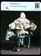 """MARSEILLE - Les Musées Historiques - Photo Santon XIX """"Margarido Et Son âne"""" - FICHE GEOGRAPHIQUE - Ed. Larousse-Laffont - Art Populaire"""