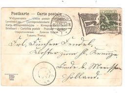 REF1311/ Germany PK-PC Germania 5 Pfg Flag Cancellation Mannheim 1905 > Holland - Allemagne