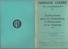 """FANEUSE LEGERE """"C. Puzenat"""" à Bourbon-Lancy (71) - 8 Pages 23.4 X 15.3 Cm Environ - Landbouw"""