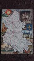 CPSM GEOGRAPHIQUE DEPARTEMENT DU LOIR ET CHER BLASON FRANCE CONTOUR PINCHON BLONDEL ROUGERY HOMMES CELEBRES - Mapas
