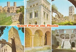 Espagne Sant Pere De Roda Diferens Aspectos Del Monastir (2 Scans) - Gerona