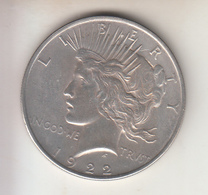 STATI UNITI - 1922 - 1$ - PEACE ARGENTO - Émissions Fédérales