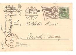 REF1313/ Germany PK-PC Germania 5 Pfg Flag Cancellation Bremen 1903 > Urach Würtenberg - Allemagne