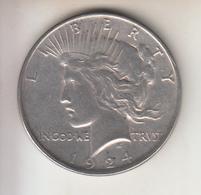 STATI UNITI - 1924 - 1$ - PEACE ARGENTO - Émissions Fédérales
