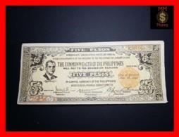 PHILIPPINES 5 Pesos 1942 P. S648 A  VF \ XF - Philippines
