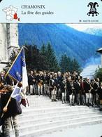 CHAMONIX - Fête Des Guides - Photo Rassemblement En 1991 - FICHE GEOGRAPHIQUE - Ed. Larousse-Laffont - Winter Sports