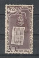 1959 - 5 Centenaire Du Bucarest (DRACULA)   Mi No 1801 Et Yv No P.A. 102 (MNH) - Usado