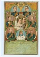 U9018/ Unser Kaiserhaus Litho Prägedruck AK  Kaiser Wilhelm  1905 - Familles Royales