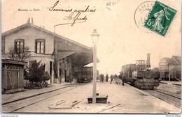 72 MAMERS - Vue De L'intérieur De La Gare (plis). - Mamers
