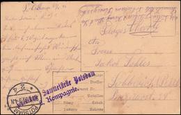 Feldpost BS Bataillon Sammelstelle Potsdam 2. Kp., Militär-AK, POTSDAM 25.1.16   - Besetzungen 1914-18
