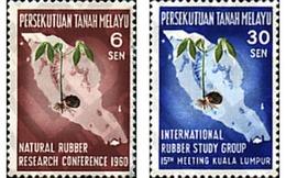 Ref. 50056 * MNH * - MALAYA. 1960. RUBBER CONFERENCE . CONFERENCIA SOBRE EL CAUCHO - Pflanzen Und Botanik