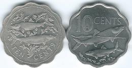 Bahamas - Elizabeth II - 10 Cents - 1998 (KM61) & 2007 (KM219) - Bahamas