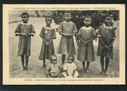 CPA - NIGER - Enfants Trouvés Dans La Brousse Quelques Jours Après Leur Naissance - Niger
