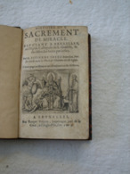 Histoire Du Sacrement..., à Bruxelles En L'église Collègiale Ste Gudule . 1605.  (10 X 15 Cm). Ex Libris Rogerii Aloy. - Boeken, Tijdschriften, Stripverhalen