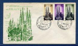 Espagne - FDC - Premier Jour -Barcelone - Congreso International De Filatelia - 1960 - FDC