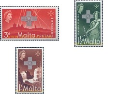 Ref. 163788 * MNH * - MALTA. 1957. 15 ANNIVERSARY OF THE DELIVERY OF THE CROSS OF GEORGE AND ELISABETH II . 15 ANIVERSAR - Malta (...-1964)