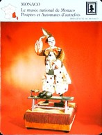 MONACO - Musée Poupées Et Automates  - Photo Automate Clown  - FICHE GEOGRAPHIQUE - Ed. Larousse-Laffont - Toy Memorabilia